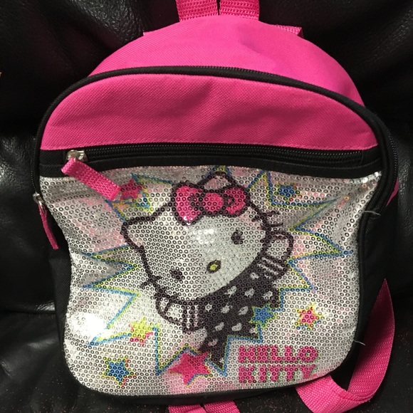 d074338a0108 HELLO KITTY Cute Small Glitter BACKPACK Bag Purse